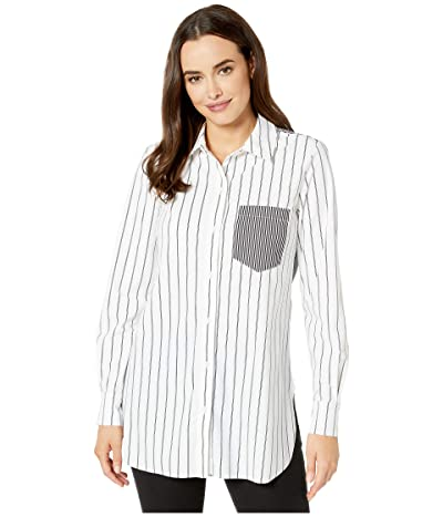 Lysse Mixed Stripe Stretch Microfiber Schiffer (Black Stripe) Women