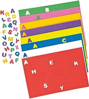 Baker Ross Lettres Majuscules de l'Alphabet en Mousse Autocollante (Lot de 600)- Matériel créatif pour Enfants, EC170