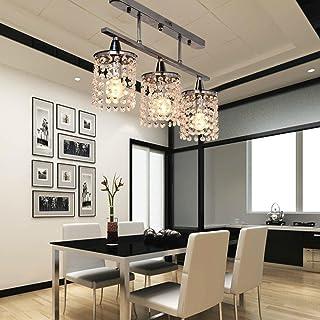 Bon OOFAY LIGHT® 3 Léger Lustre En Cristal Suspendus Linéaires Avec Montage En  Métal Solide,