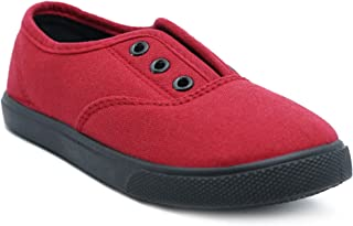 Charles Albert Slip-On Laceless Fashion Sneakers - Sizes for Girls and Boys - Canvas Upper & Rubber Sole (Little Kid/Big Kid)