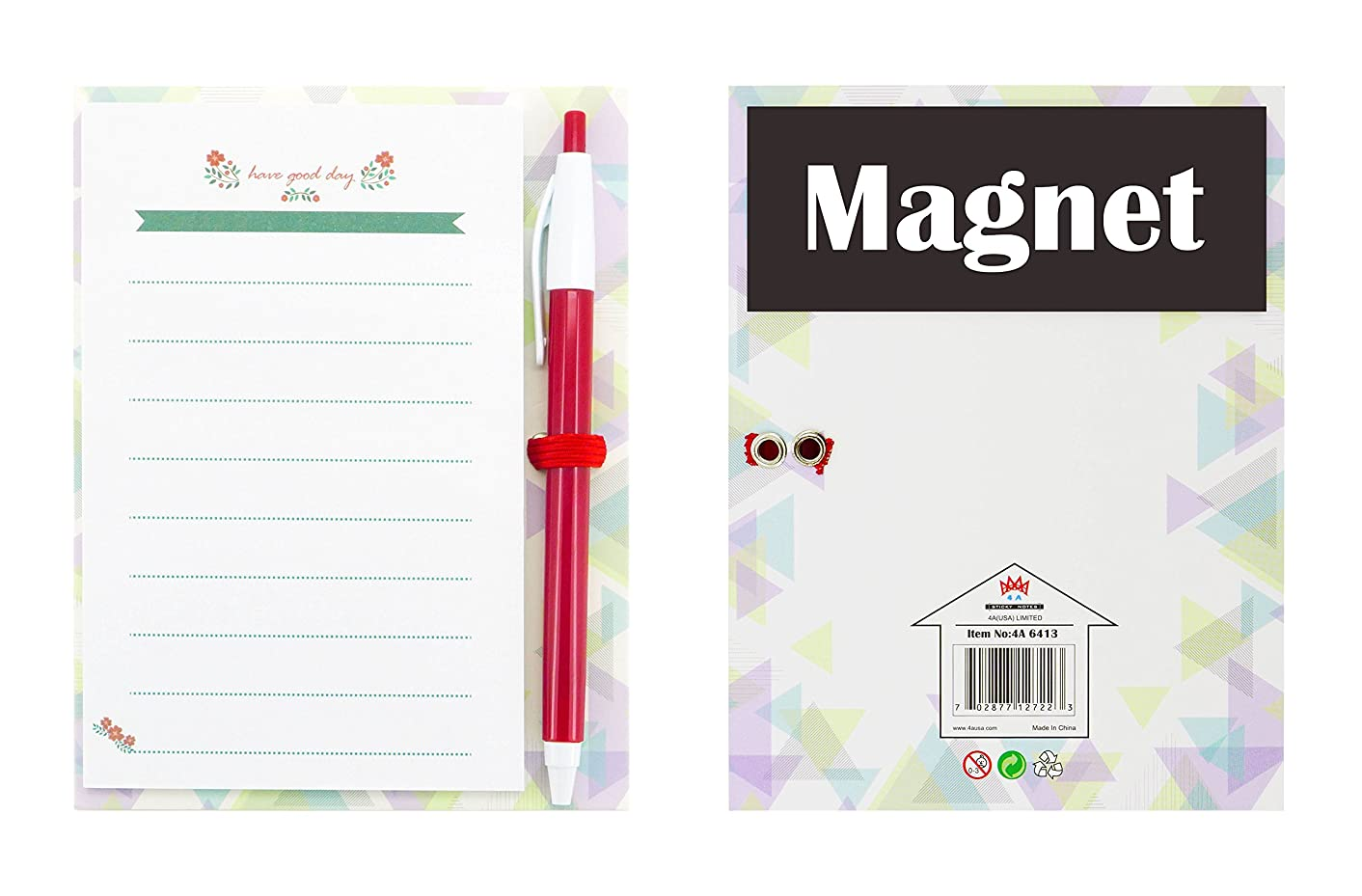 4A Magnet Sticky Notes with Pen Set,