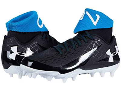 Under Armour Kids C1N MC Jr Football (Big Kid) (Black/Crown Jewel/White) Kids Shoes