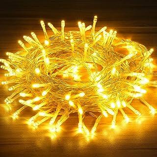 Guirlande Lumineuse, OMERIL Lumières de Noël 130LED 15M Intérieur et Extérieur 8 Modes Etanche avec Minuterie Guirlande Le...
