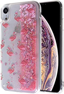iPhone 8 Plus Bling Case, Glitter Liquid Sparkle Floating Luxury Bling Quicksand Shockproof Protective Bumper Silicone Case For iPhone 8 Plus/iPhone 7 Plus(flamingo)