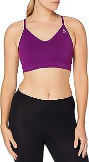 ODLO Women's Sports Bra Seamless Soft Sports Bra, Womens, Sportsbra, 130601, Charisma - Grey Blend, S
