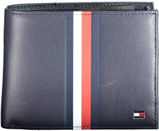 Tommy Hilfiger Men's Metro CC Flap And Coin, Blue - AM0AM06146