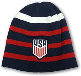 7fb325d66b1fe0 Icon Sports USA International Soccer Team Fitted Knit Beanie Winter Cap Hat
