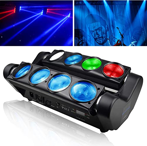 BETOPPER Lyre led dmx 512 Spider Beam Moving head 8 * 8W RGBW LED Eclairage de scène Lumiere DJ Jeux de lumiere lyre