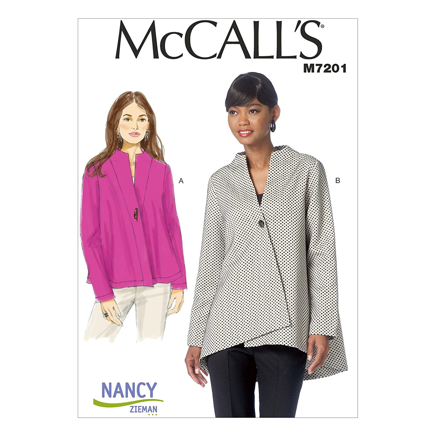McCall's Patterns M7201 Misses' Jackets Sewing Template, ZZ (LRG-XLG-XXL)