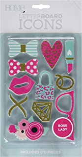 DCWVE Die Cuts with A View Icon Pack Letterboard-Boss Lady (11 pcs) LP-006-00036