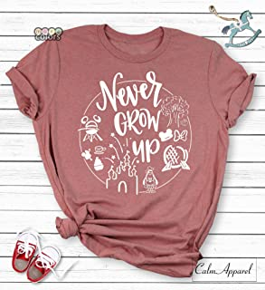 1ec3138a4 Never Grow Up Shirt, Family World Trip Group Tanks, Trendy, Holiday  Vacation T