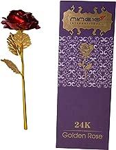 NINE10 Gold Rose 24K Gold Foil/Gold Plated Red Rose Box