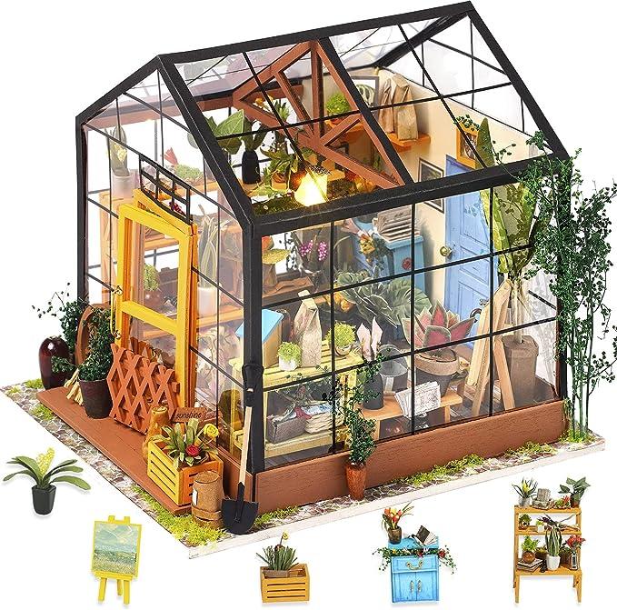 743 opinioni per Rolife Kit da casa di Bambole in Legno di Legno in Miniatura Kit da casa con