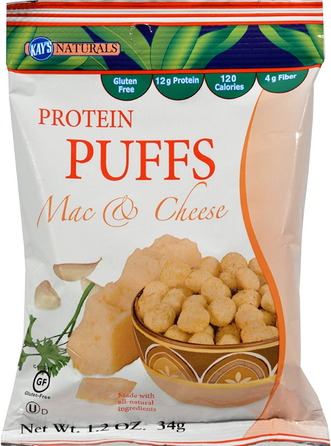 High order Kay's Naturals Protein Puffs - Mac of Bombing new work Cheese oz and Case 6-1.2