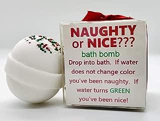 Naught or Nice Color Change Christmas Bath Bomb   Christmas Bath Bomb   Stocking Stuffer Bath Bomb   Christmas Bath Bomb Gift
