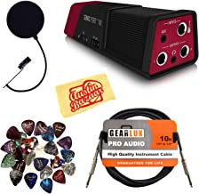 Line 6 Sonic Port VX Audio I/O and Stereo Microphone Bundle with Pop Filter, Instrument Cable, 24 Picks, and Austin Bazaar Polishing Cloth