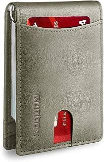 Minimalist Slim Bifold Front Pocket Wallet for Mens with RFID Blocking