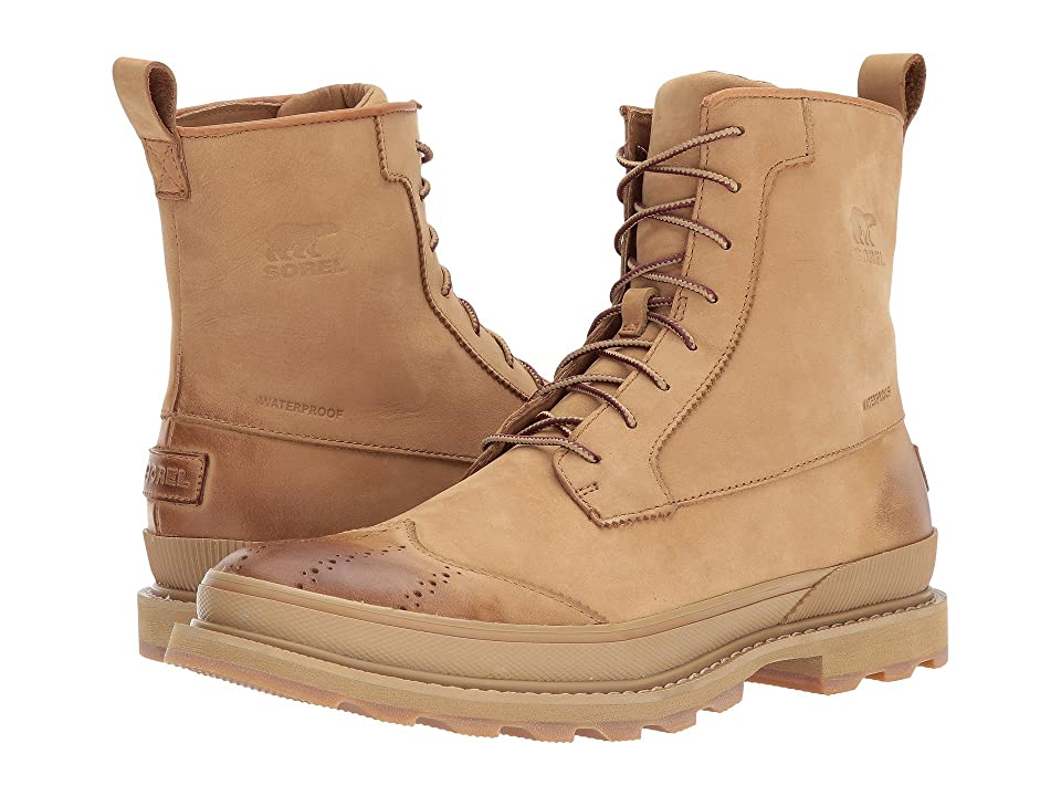 SOREL Madson Wingtip Boot Waterproof (Buff/Crouton) Men