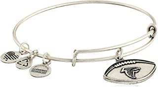 Alex And Ani Atlanta Falcons Football Charm Rafaelian Silver Bangle AS15AF02RS