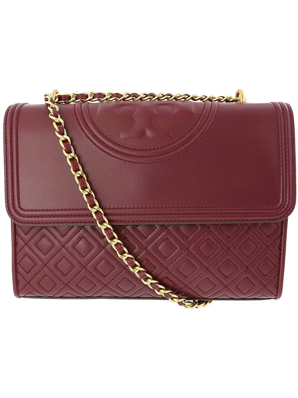 無実出席する一回Tory Burch Women's Fleming Convertible Leather Shoulder Bag - Imperial Garnet