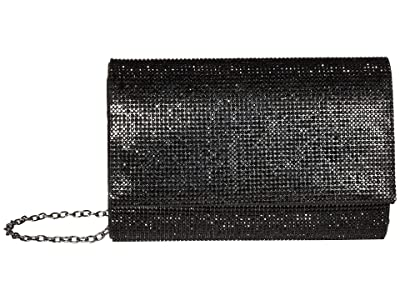 Jessica McClintock Alexis Sparkle Clutch (Black) Clutch Handbags