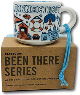 Connecticut Been There Collection Ceramic Coffee Demitasse Ornament 2 oz