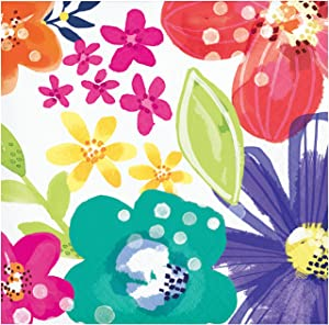 Creative Converting Spring Floral Beverage Napkins, 5