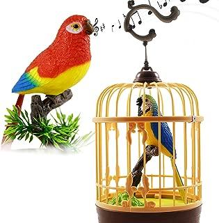 -Blue Cardinal Bird Design Battery Operated Chirping Bird Moving Head Tail