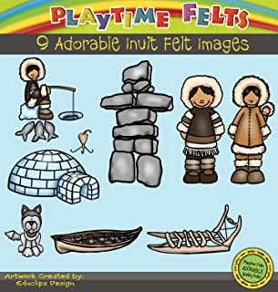Playtime Felts Life of The Inuit People Story Set for Flannel Board - Uncut