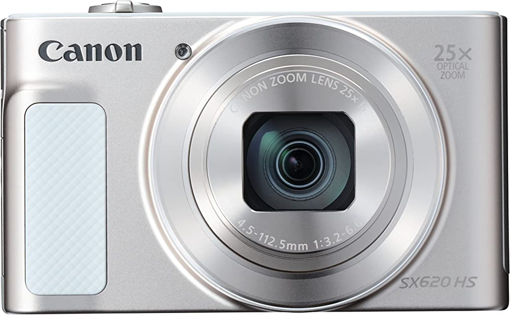 Canon PowerShot SX620 HS - Cámara digital compacta de 202 Mp (pantalla de 3 zoom óptico 25x WiFi NFC video Full HD) blanco