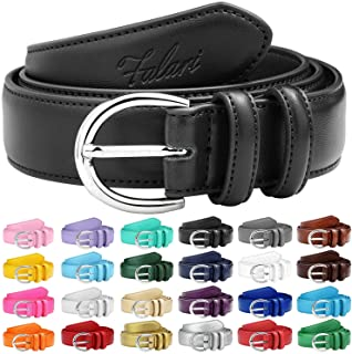 Women Genuine Leather Belt Fashion Dress Belt With Single Prong Buckle 6028-31 Colors