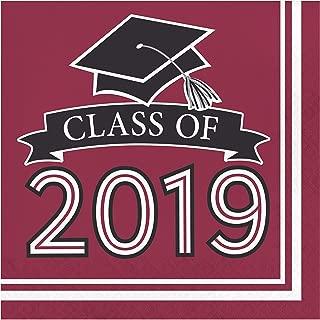Burgundy Class of 2019 Napkins, 108 ct