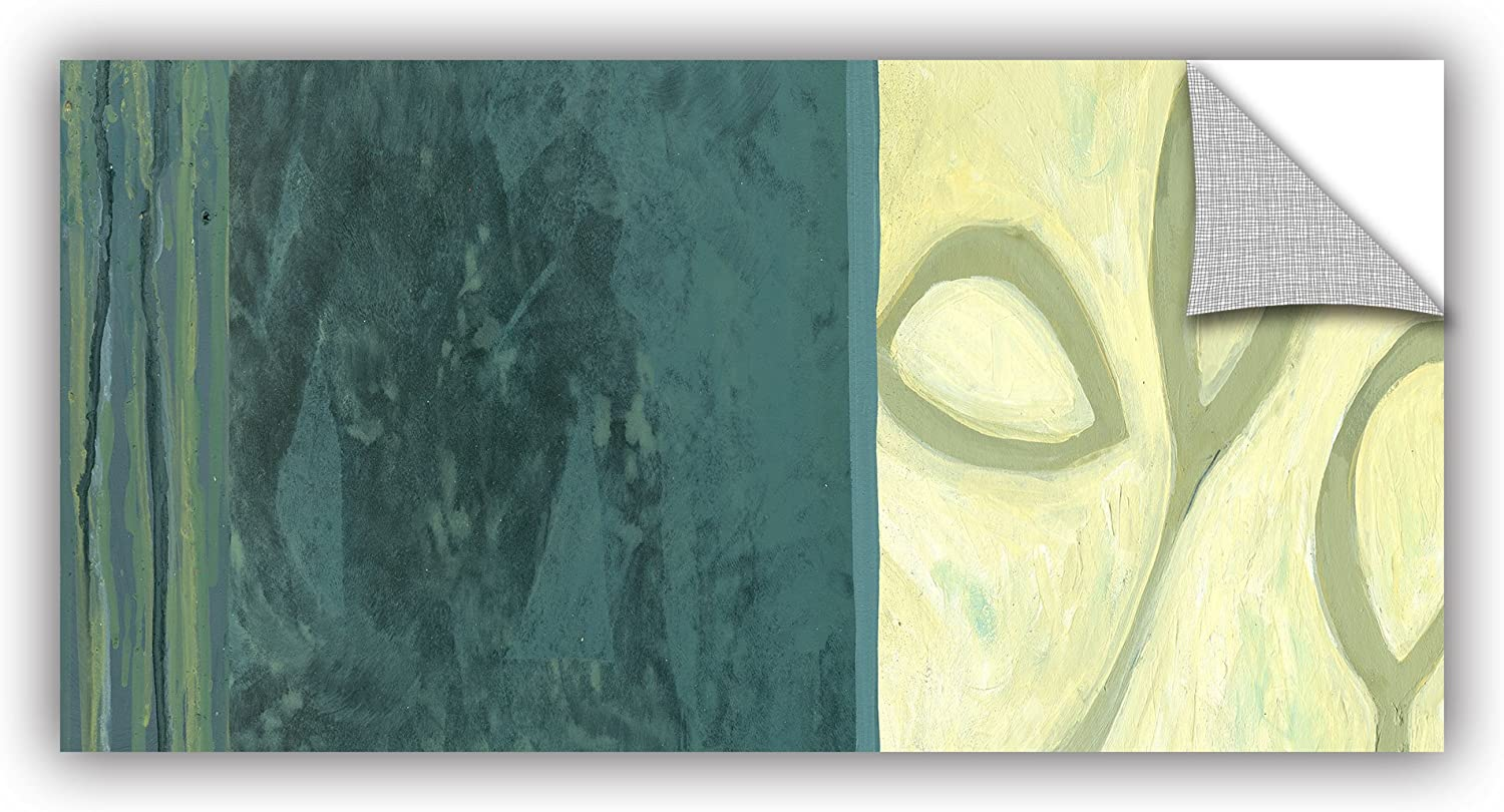 Art Wall Jan Weiss Three Leaves II Appeelz Removable Graphic Wall Art, 12 by 24-Inch