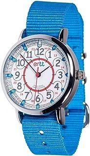 EasyRead Time Teacher Analog Learn The Time Kids Watch Blue #ERW-RB-24-B