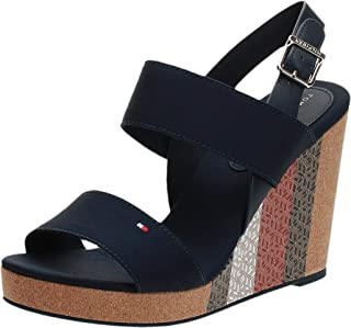 Tommy Hilfiger MONOGRAM CORK HIGH WEDGE SANDAL Women's Sandal