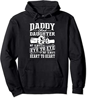 Daddy And Daughter Not Always Eye To Eye But Heart Hoodie