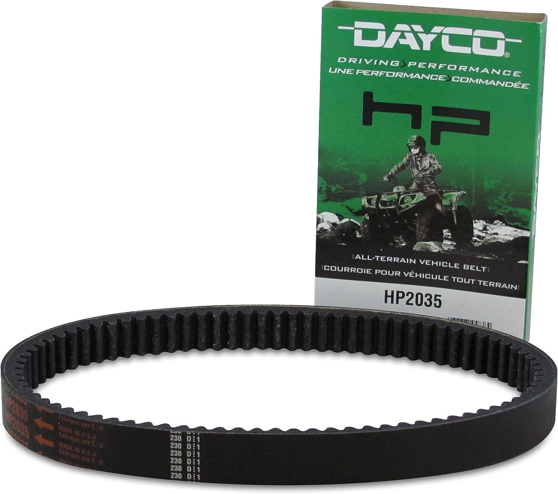 Nippon regular agency Dayco HP2035 HP High Performance Drive Selling rankings UTV ATV Belt Black