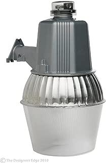 Woods L1730 Cci Modern High Pressure Sodium Security Farm Light, Powder Coated Housing, (1) Ed17 Lamp, 120 V, 75 W, 70-Watt, Silver