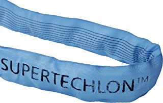 Mazzella Supertechlon Polyester Round Sling, Endless, Blue, 12' Length, 3 1/2