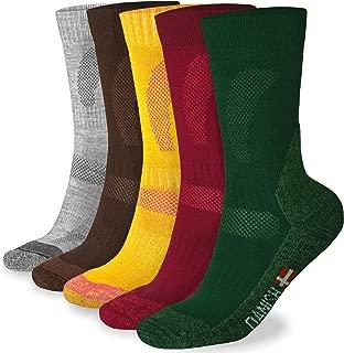 DANISH ENDURANCE Merino Wool Hiking Socks Crew for Summer & Fall, Trekking, Performance, Outdoor, Men Women Kids, Multi 1/3 Pairs
