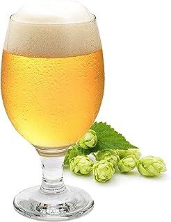Verres à bière Lot de 6   tulipe de bière   Verre à bière   Verre à bière élégant   Verre à pied transparent   Gobelets à ...