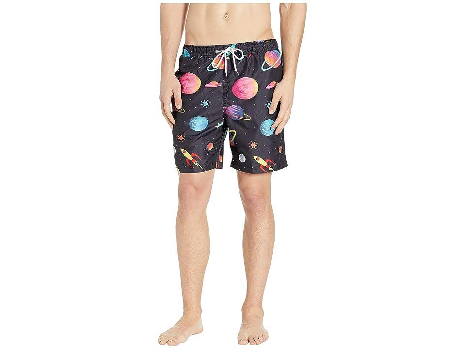 U.S. Surf Club Space Swim Shorts (Black) Men