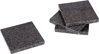 Creative Home 74846 Natural Stone Granite Coaster Set (Set of 4), 4
