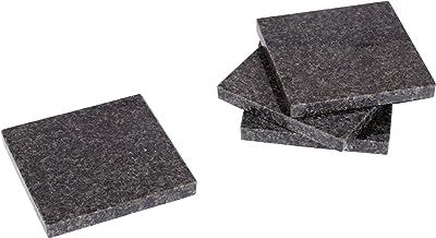 "Creative Home 74846 Natural Granite Stone Set of 4 Pieces Square Drink, Kitchen Bar Restaurant Decor Coasters, 4"" x 4"", Da..."