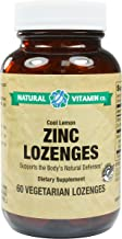 Natural Vitamin Co. - Zinc, Cool Lemon Flavor, Vitamin C 100mg, Zinc 23mg, 60 Lozenges, 2 Month Supply, Gluten Free, Vegetarian