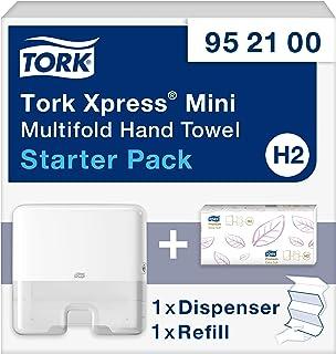 Tork Xpress Starter Pack Mini pour Essuie-mains interfoliés - 952100 - Elevation Design - Distributeur H2 pour papier d'es...