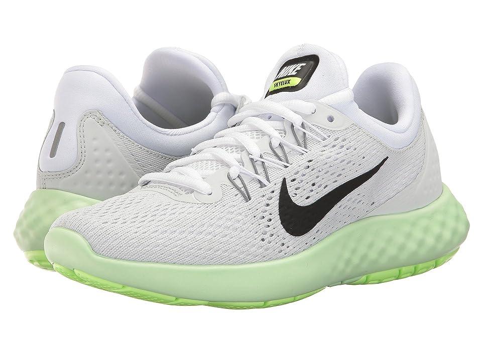 Nike Lunar Skyelux (Pure Platinum/Black/Fresh Mint) Women's Shoes, White