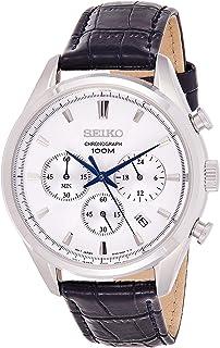 Seiko Orologio Cronografo Quarzo Uomo con Cinturino in Pelle SSB291P1