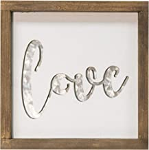 CWI Gifts Framed Metal Cutout Love Sign, Multi