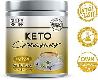 Keto Creamer Vanilla | KETO Creamerㅣ6oz Powder | MCT oilㅣKeto DietㅣCoffee CreamerㅣWeight LossㅣWeight ManagementㅣKetosisㅣLow Carb | Great taste with creammy flavor | Vanilla Flavor
